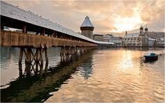 The old Bridge with Snow by Jan Geerk on 500px
