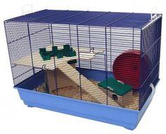 Mäuse- und Hamsterheim Arizona bietet mit der eingebauten Buddelburg ein tolles Zuhause für kleine Nager wie z.B. Mäuse, Zwerghamster und Gerbils.