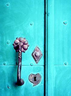 ∆ Turquoise door