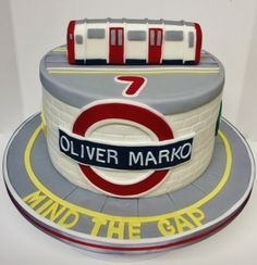 Underground train cake.  By Jacqui's Cupcakes
