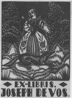 ex libris Joseph De Vos by Victor Stuyvaert