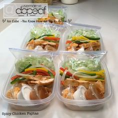 #MealPrepSunday It doesn't have to be a seven course meal. Just keep it simple. This is 3.5 lbs of chicken, couple of packets of fajitas seasoning, a few splashes of sriracha, some bell peppers, an onion, shredded lettuce, shredded cheese, sour cream and a lil of the left over chicken au jus. Put it all together and you got Spicy Chicken Fajitas. Simple, delicious & low carb. #EatCarbsForWhat #PrepForSuccess