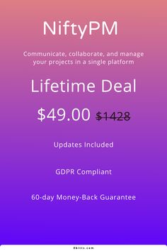 NiftyPM is a remote collaboration hub designed to help you manage projects, goals, files, and teams, all in one place.   Grab this deal while it lasts  #business #technology #deals #tech #smb #startup #entrepreneur #smallbusinesses #8bittsdeals #smallbiz #freelance #freelancer #biztips #webdevelopment #projectmanagement #projectmanager #pmp #agile #scrum #productivity #planning #asana #jira #projectmanagementsoftware #remoteworking #workfromhome #digitalnomad Startup Entrepreneur, Business Technology, Project Management, Asana, Web Development, Productivity, Collaboration, Remote, Software