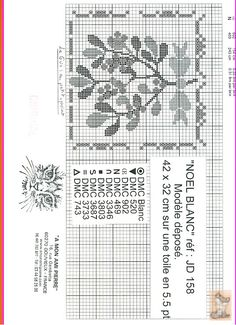 mistletoe xstitch pattern