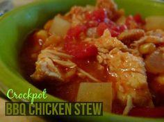 Crockpot BBQ Chicken Stew  http://www.momspantrykitchen.com/crockpot-bbq-chicken-stew.html