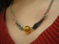 DIY Golden Snitch Necklace