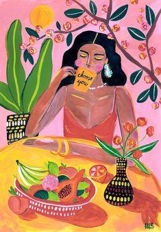 """Choose you"" Art by Maggie Stephenson on - - Arty Farty - Hintergrundbilder Art And Illustration, Illustrations, Watercolor Illustration, Inspiration Art, Art Inspo, Arte Fashion, Posca Art, Aesthetic Art, Graffiti Art"