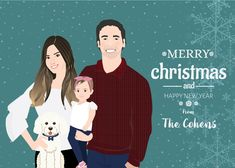 Get your custom-made illustration ready for Christmas so you can print it and send it as your Christmas card ! Check out my instagram and feel free to check my etsy store to place an order.   #whimsical #Christmas #christmasillustration #christmascard #Christmasportrait Christmas Cards, Merry Christmas, Christmas Portraits, Whimsical Christmas, Christmas Illustration, Etsy Store, Branding, Photo And Video, Feelings