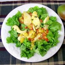 Main Dish Salad: Warm Chicken and Mango Salad
