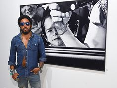 Lenny Kravitz attends the Opening of Lenny Kravitz FLASH Photography Exhibition at Miami Design District on December 2015 in Miami, Florida. Versace Mansion, Photo Exhibit, Art Basel Miami, Steve Martin, Star Track, Photography Exhibition, Lenny Kravitz, Prince Rogers Nelson, Flash Photography