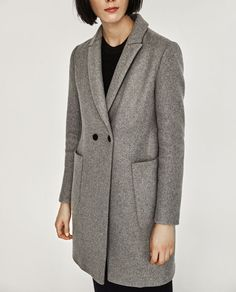 Image 2 of MASCULINE DOUBLE BREASTED COAT from Zara