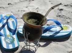 Bebida nacional uruguaya.  El mate.