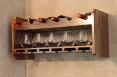 Custom Made Walnut Wine Rack