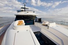 Front view of Blue By You, 50 Foot Azimut Magellano