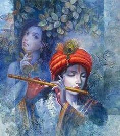Shilpanjali- Art of Contemporary Bengal' Lord Krishna Images, Radha Krishna Pictures, Radha Krishna Love, Baby Krishna, Krishna Leela, Jai Shree Krishna, Radhe Krishna, Hanuman, Lord Krishna Wallpapers