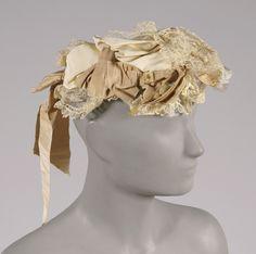 Cap (side view) | United States, late 19th century | Material: bengaline ribbon | Philadelphia Museum of Art