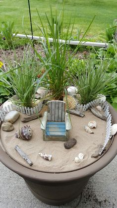 "Beach fairy garden. I wonder if this would help me to ""envision"" my beach house..."