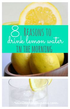 8 Reasons To Drink Lemon Water In The Morning - including weight loss!!
