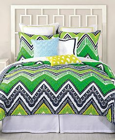 Trina Turk Bedding, Tangier Stripe Coverlet Collection - Bedding Collections - Bed & Bath - Macy's