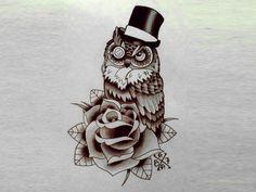 owl tattoo designs | Owl tattoo design ~ 268 - Image Gallery 499 | Cute Tattoo Design ...