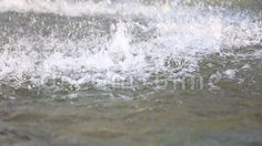 Fountain - drops rippling water surface.