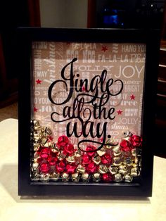 Jingle all the Way Shadow Box by CreateDesignLive on Etsy, $19.95