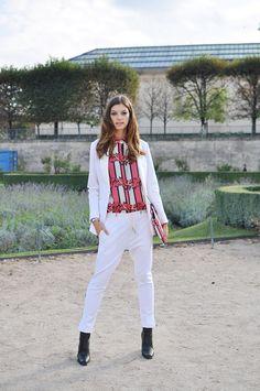 Marta Ortiz wearing Juan Vidal