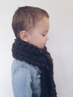 Long open ended scarf for kids by MaxOliviaKnitwear on Etsy