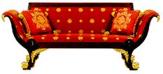 """American Greek Revival/American Empire couch in the """"Red"""" Room in the White House"""