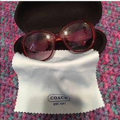 ‼️FINAL PRICE Sunglasses with case‼️ I don't believe that these are authentic. But they are really nice. No cracks or scratches. Comes with the case. Side pieces need to be tightened. Accessories Sunglasses