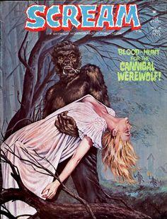 Xavier Vilanova, February 1974. Wait … if he's a cannibal werewolf, then he's eating OTHER werewolves.