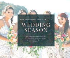 Wedding Season is only a few months away, and weekends are booking up quite quickly.  I urge all future Brides to secure your desired Hair and Makeup Artist as soon as you have set your wedding date, if you would like PHM to look after you on your wedding day contact us as soon as possible to avoid disappointment.  We would love to be apart of your special day.  #wedding #bridal #bride #bridesmaids #hair #makeup #photography #mobileservices #nzwide #makeupartist #hairdresser…