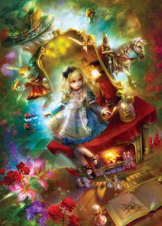 Lost in Wonderland (Book Boxes) Fantasy Jigsaw Puzzle