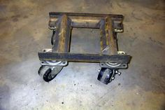Homemade auto dolly with casters - possible use of my material (cast polyamide) for the casters