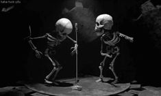 Skeletons getting down.
