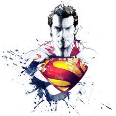 David Despau - this superman image has a mirror look around it for where the…
