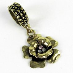 Scarf Jewelry Gold Flower Pendant - $10.90