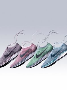 "The New Nike Flyknit Macaron Collection Has Our Feet Screaming ""YUM!"""