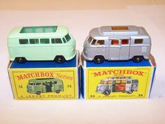 VINTAGE  MATCHBOX CAMPERS | Lot 13613: Selection of 2 Vintage Matchbox Toys #34 VW Camper