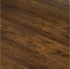 "5.6"" Hand Scraped Gunstock Laminate Wood Floor"