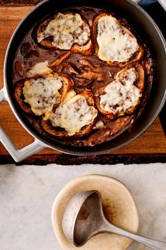 NYT Cooking: This hearty soup takes its cue from the classic soupe à l'oignon gratinée. I swapped out the onions for mushrooms and served the hearty soup paved with a layer of toast and cheese as a cold-weather first course. For an informal supper, it could be the main event, especially with additions like potatoes or other root vegetables, shredded cabbage, cooked lentils, buckwheat pasta or even chunks of...