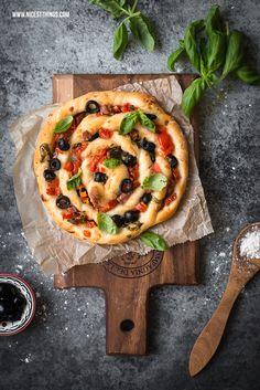Swirl Pizza, Pizza Spirale, Pizzaschnecke, Kringelpizza