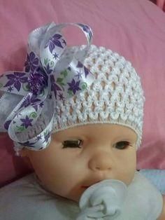 tiara baby...acompanha o crescimento...de:RN ate....  Crochetsruth