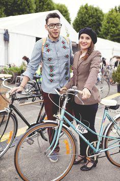 Les meilleurs looks des cyclistes au Anjou Vélo Vintage http://www.elleadore.com/mode/dressing/anjou-velo.php  (Photo by Julie Hardiagon)