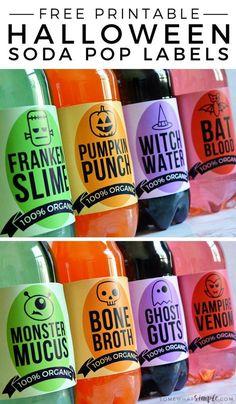 Halloween Soda Pop Labels | Free Halloween Printables