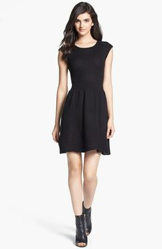 BB Dakota 'Jade' Fit & Flare Sweater Dress available at #Nordstrom
