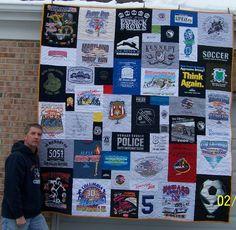 T-shirt Quilt Wall Hanging https://www.toocooltshirtquilts.com/