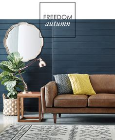 shade of dark blue fiddle leave via Adore Home magazine - Freedom's Autumn collection
