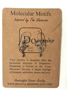 Vintage Dopamine Molecule Earrings,Love Equation Earrings,The Chemical Earrings,Women Jewelry
