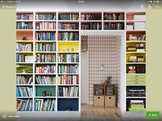 Könyvespolc, színek
